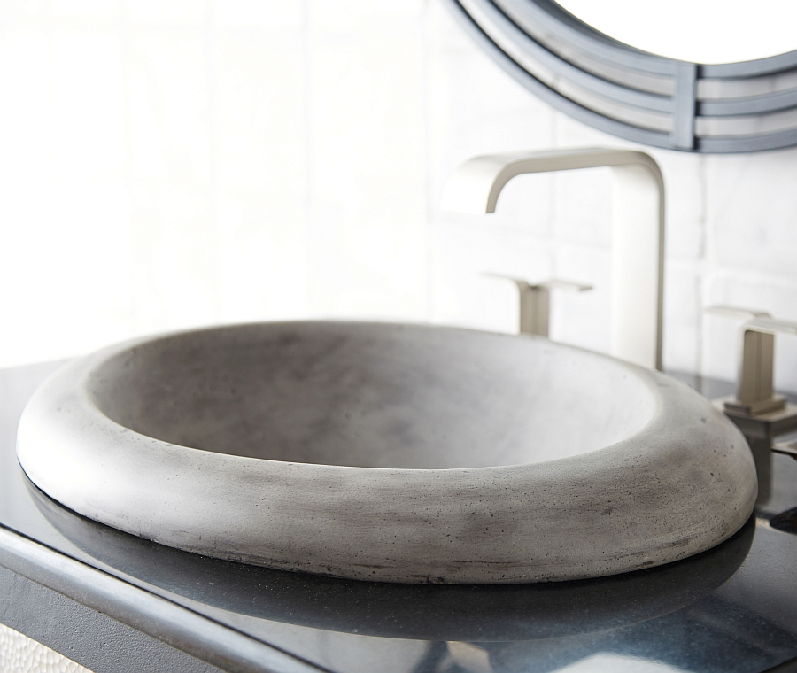 gorgeous modern bathroom sink in ash
