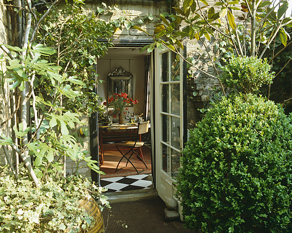 Greenery and french doors