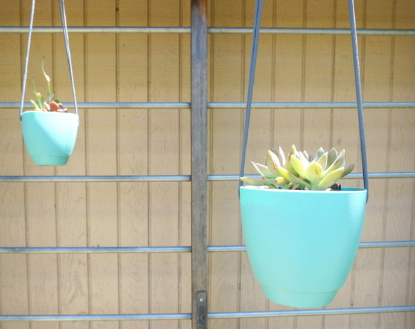 Hanging planters help welcome the spring