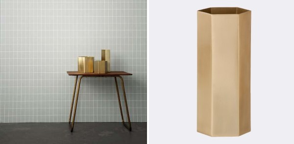 Hexagon vase from ferm LIVING