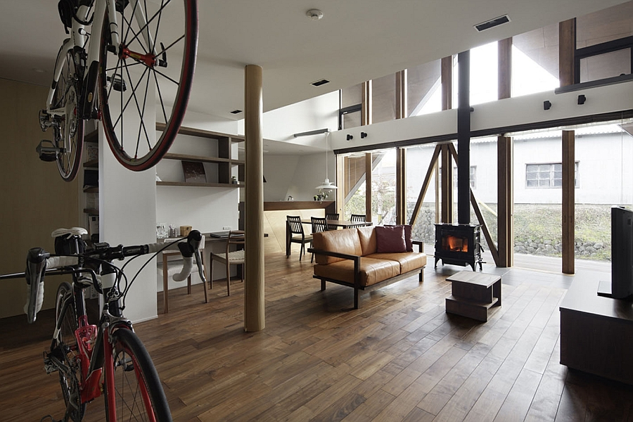 Indoor design that makes maximum use of vertical space