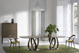 Infinity Dining Table with Ingenious Base