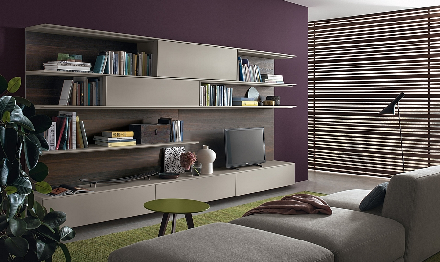 Innovative wall system from Decoma Design for Jesse Living Room Wall Unit Blends Trendy Design With Smart Functionality