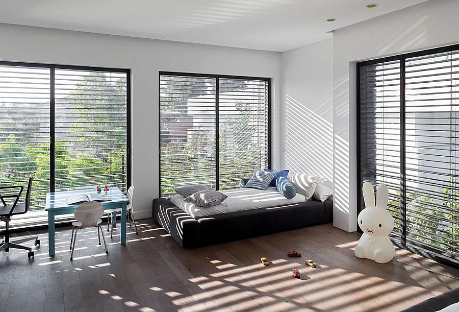 Kids bedroom in simple neutral hues