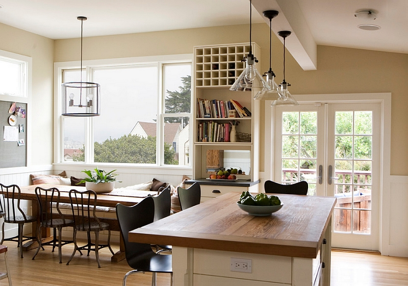 View In Gallery Kitchen And Dining Room Bring Together The Vintage Modern