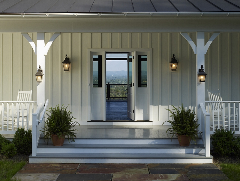 Farmhouse style interiors ideas inspirations for Farmhouse front porch pictures