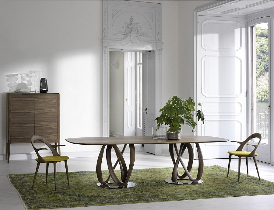 Large table serves the needs of a family dinner