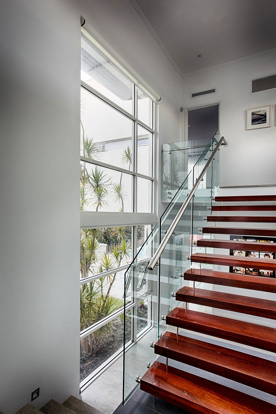 Large windows help bring in natural light