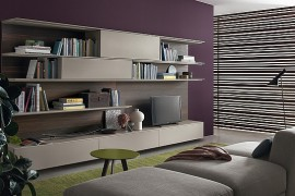 Living Room Wall Unit Blends Trendy Design With Smart Functionality Part 64