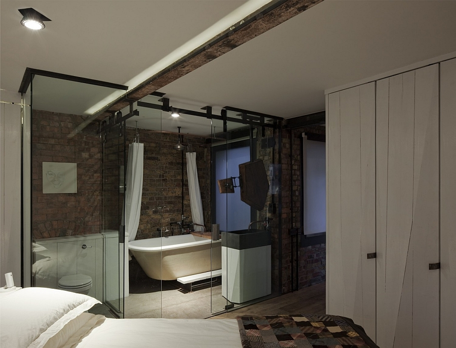 Lovely recessed lighting in the bedroom and en-suite bath