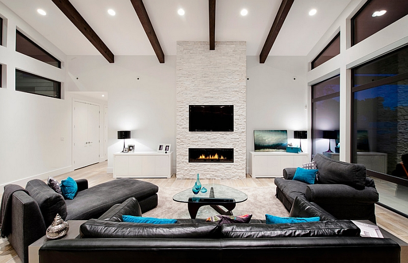 Make the TV and the fireplace the focal point of the room