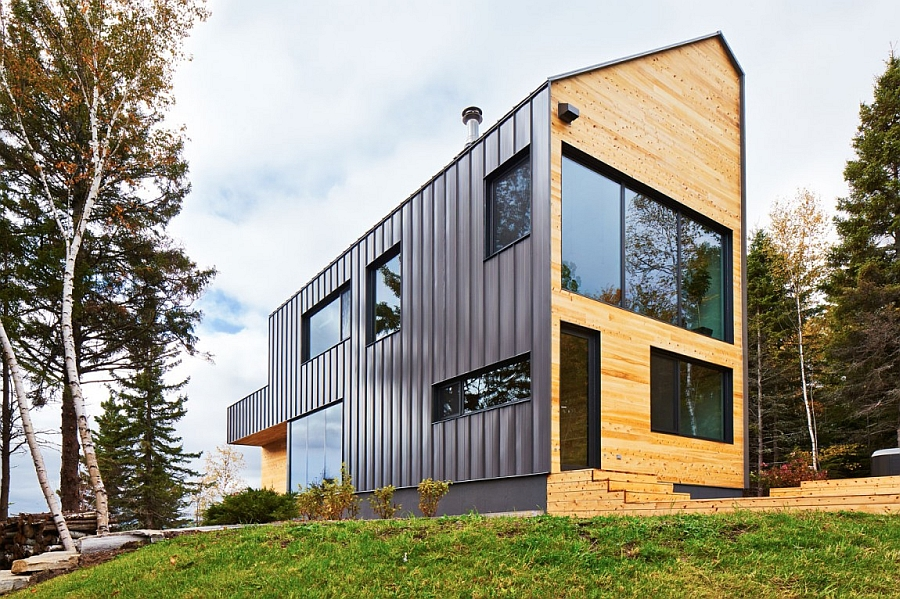 Malbaie VIII La Grange in Quebec canada Expansive Quebec Residence Charms With Inviting Warmth Of Wood