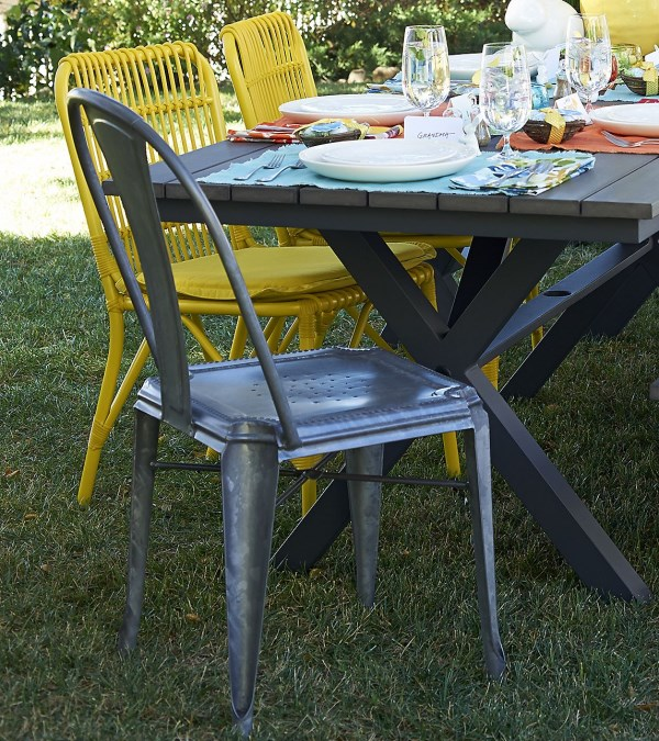 Mixing chairs for outdoor dining