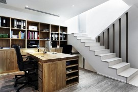 Modern Home office in the Basement