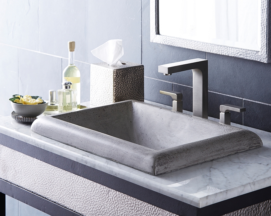 Modern & angular Montecito SInk in Ash