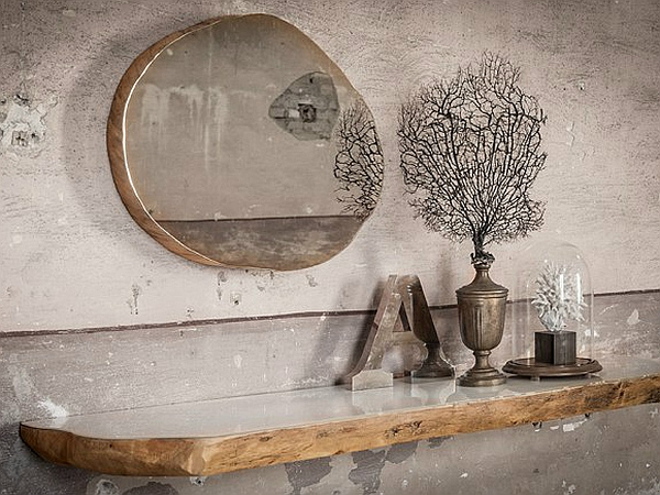 Modern decor crafted from salvaged tree trunks