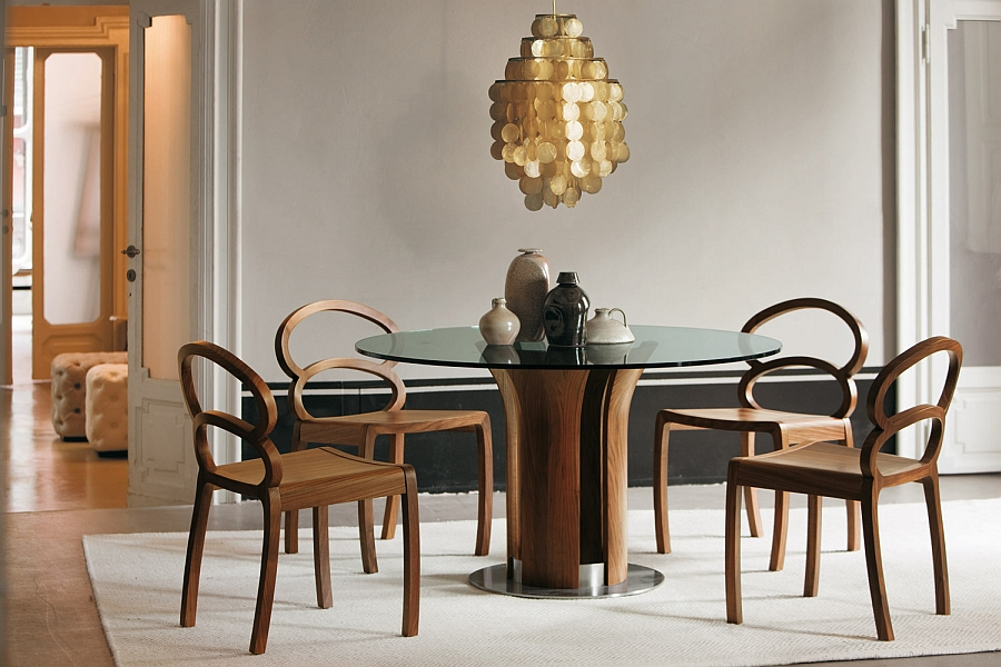 View In Gallery Modern Dining Table Inspired By The Form Of The Tulip Table
