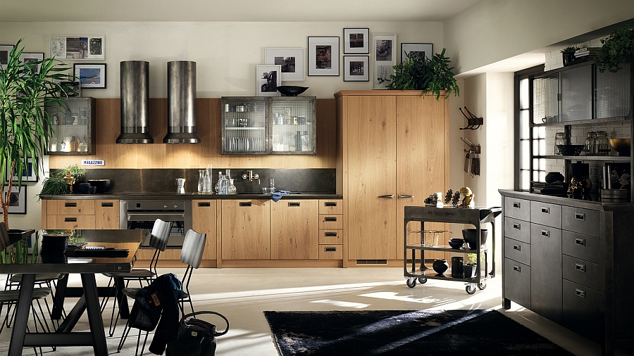 Modern kitchen with ample space for the family to spend some lovely evenings together