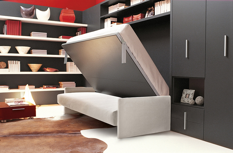 Transformable murphy bed over sofa systems that save up on for Mobile letto a scomparsa mondo convenienza