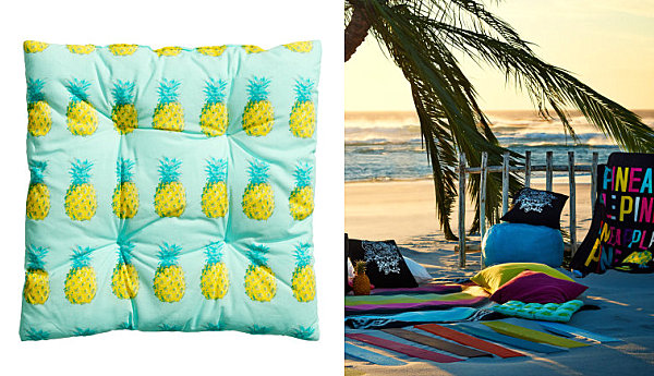 Pineapple seat cushion