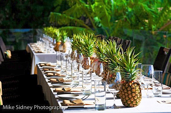 Pineapple table centerpiece