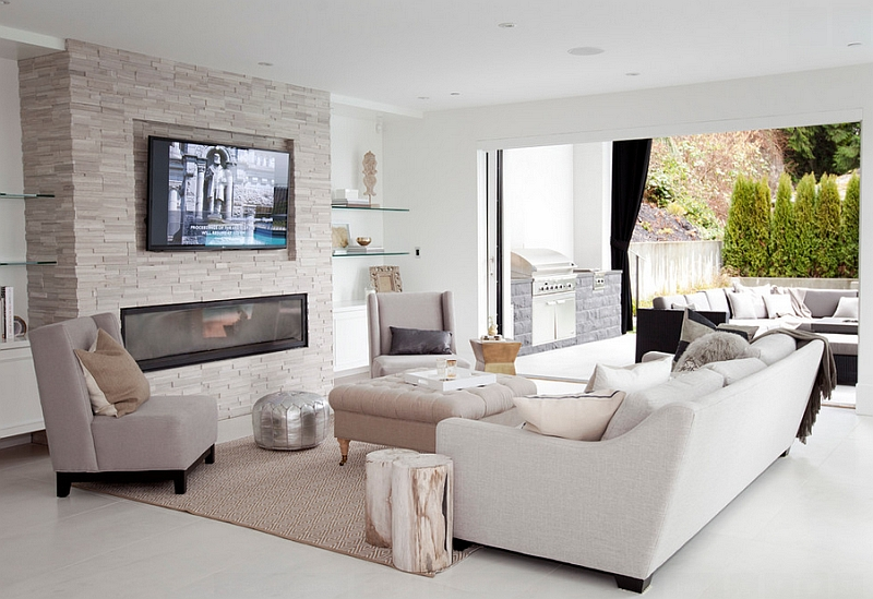 Place the Tv above the fireplace at a comfortable viewing angle