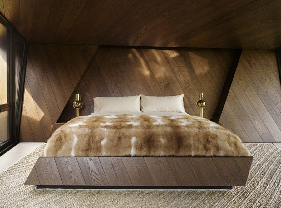 Plush bedroom with a simple, minimal design