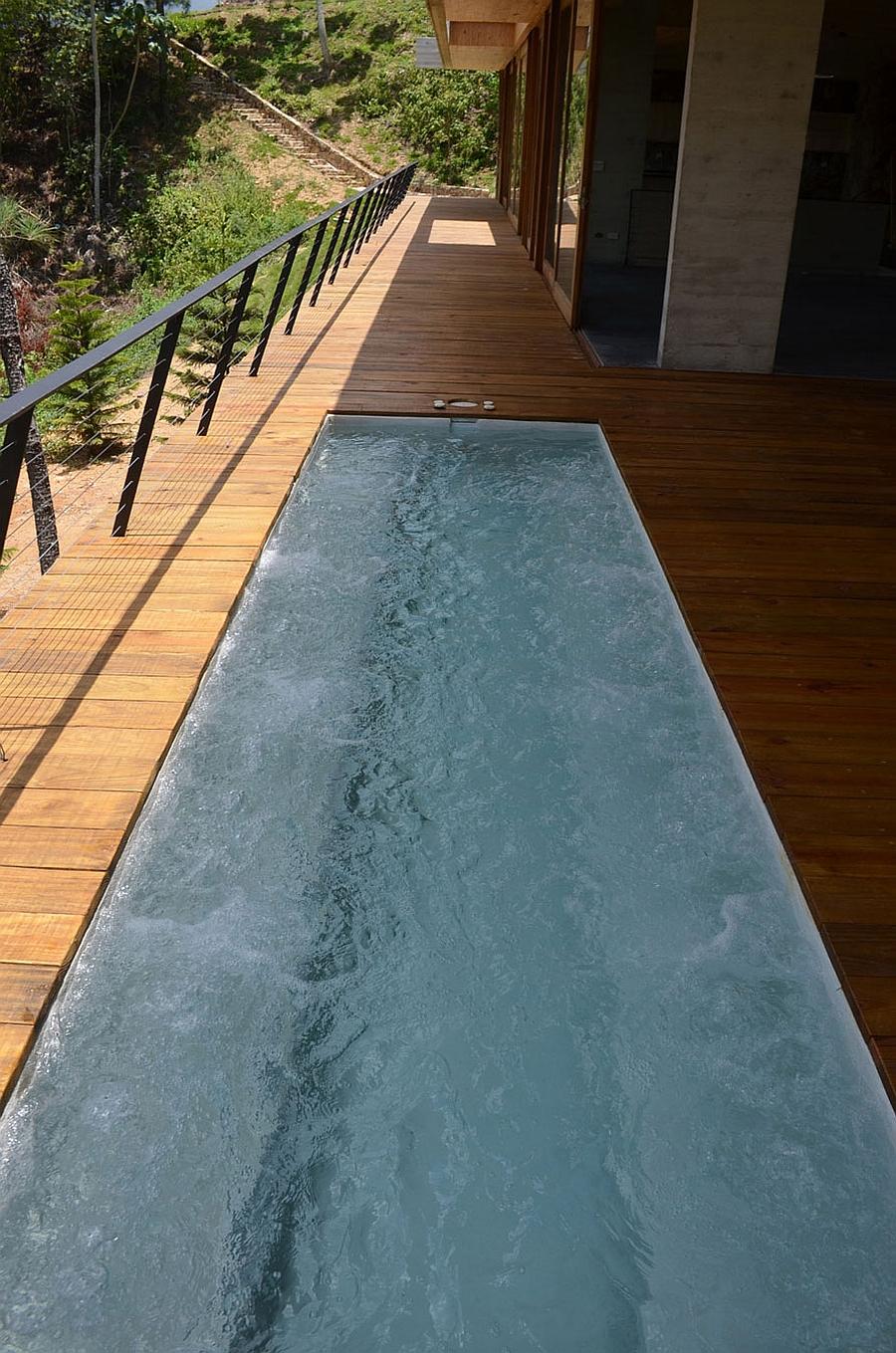 Private terrace of the serene Dominican Republic home