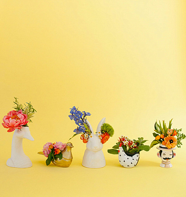 Quirky vase collection