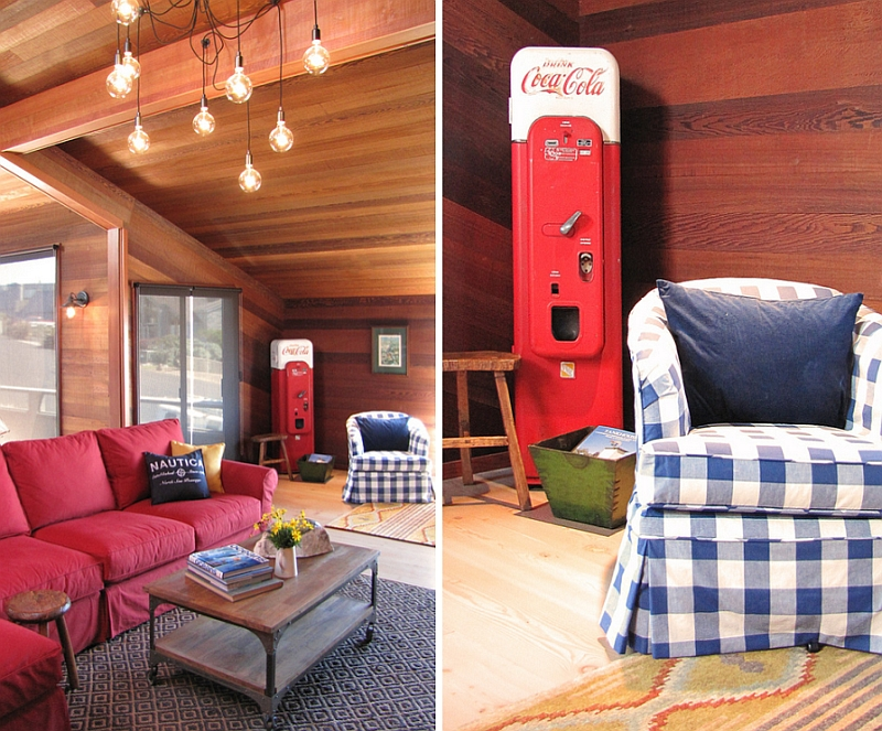 Restored old coke machine for the playful living room