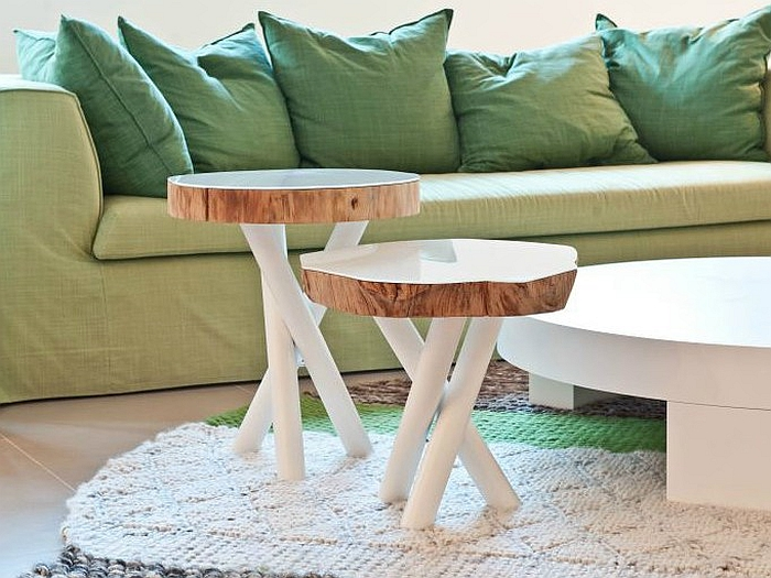 tree stump furniture. View In Gallery Salavaged Tree Trunk Decor Idea For The Contemporary Living Room Stump Furniture