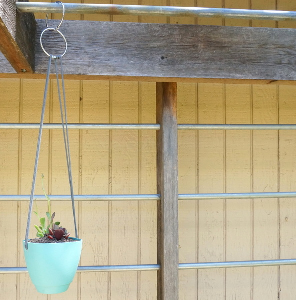 Small DIY hanging planter