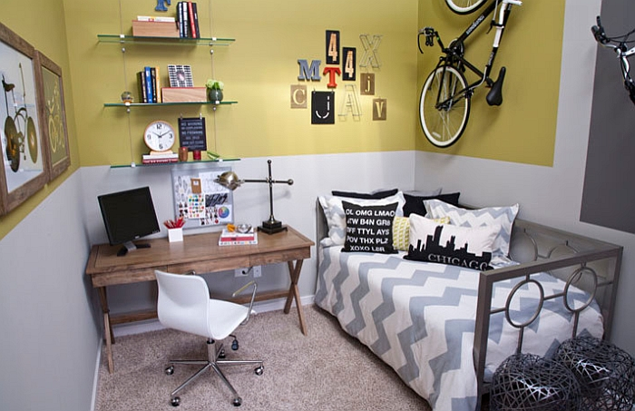 Creative bike storage display ideas for small spaces for Boys bedroom designs for small spaces