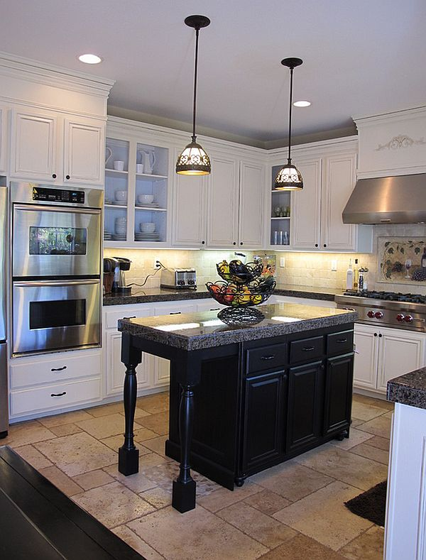 Black and white kitchens ideas photos inspirations - Black kitchen cabinets ideas ...