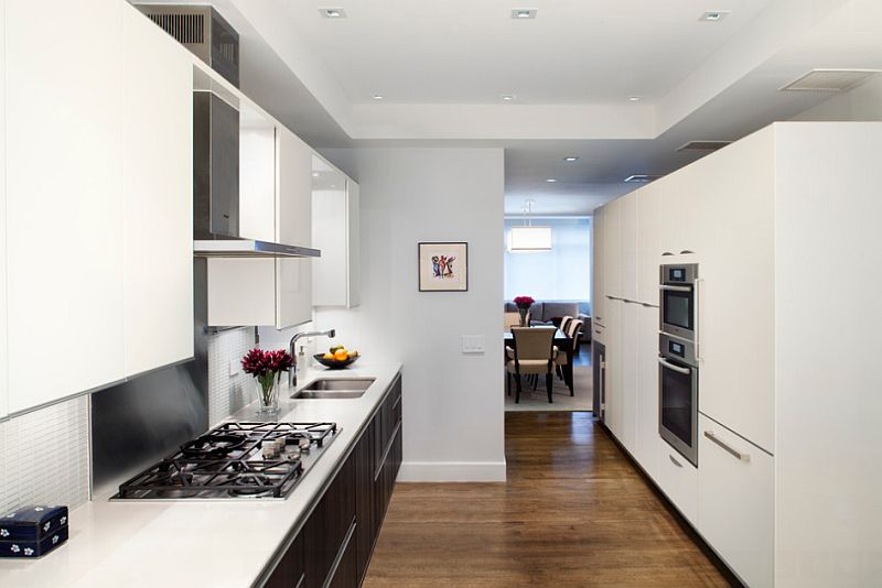 Smart NYC home kitchen uses black in a restrained fashion