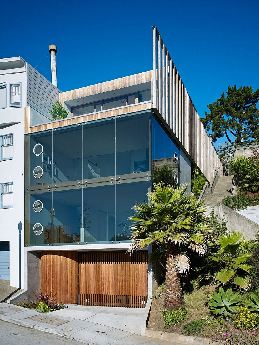 Innovative san francisco residence offers amazing city for Modern homes san francisco