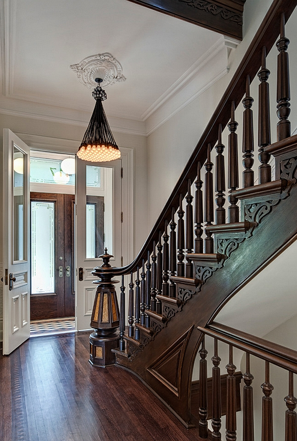 Smart lighting fixture for the grand, traditional entry