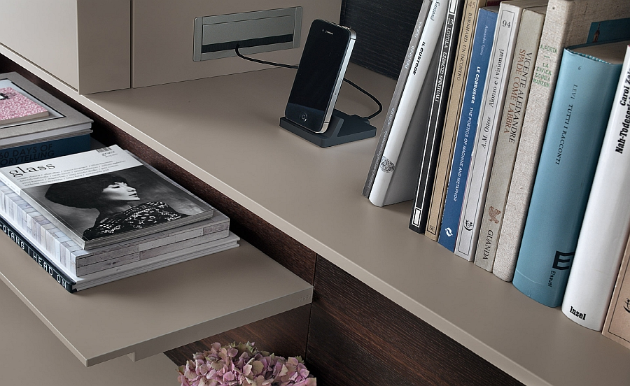 Smart wall unit system with charging outlets for your gadgets