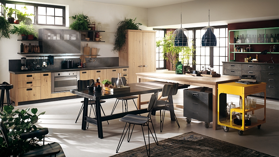 Social Kitchen from Diesel wih Scavolini Sophisticated Modern Modular Kitchen With A Dash Of Vintage Charm!