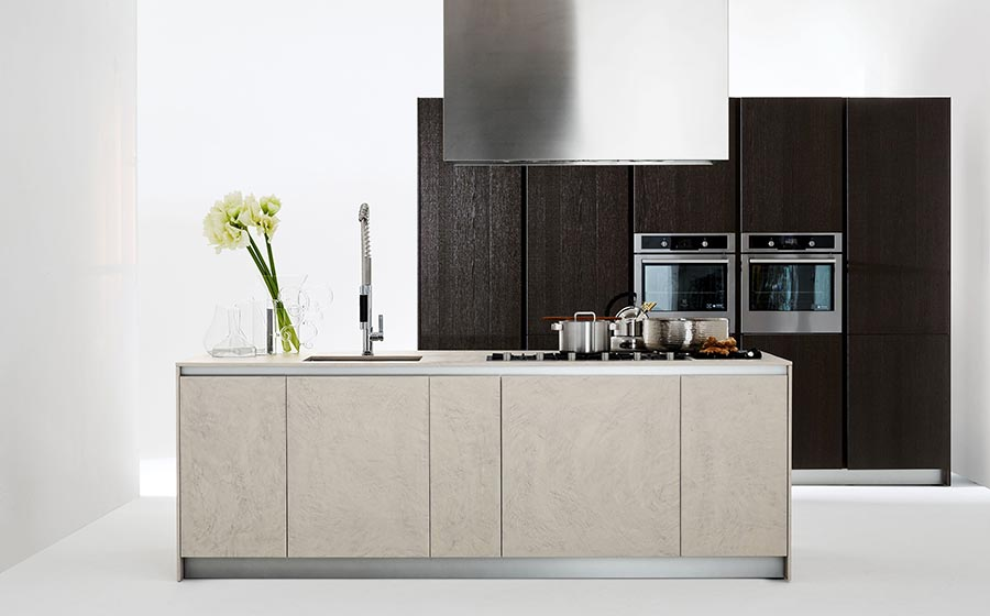 Space conscious kitchen design by Elmar with versatile fetaures