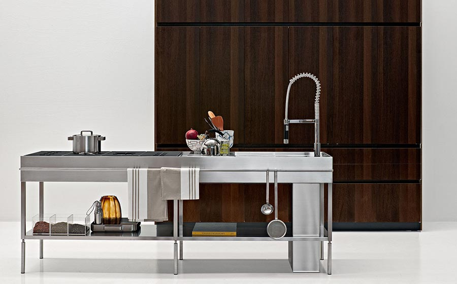 Space-saving contemporary kitchen decor from Elmar