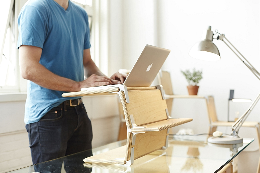 Standing Desk that is part of Modos Modular Furniture System