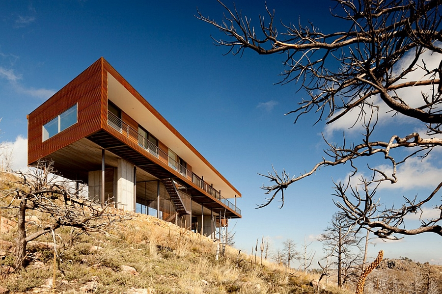 Steel beams give the home owneners some stunning views