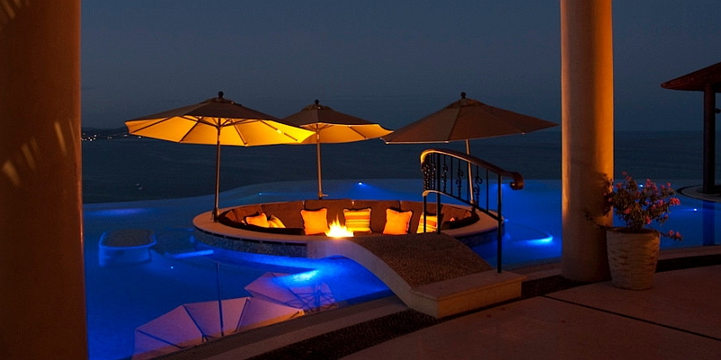 Sunken Seating Ideas on Swimming Pool Deck Lighting Ideas
