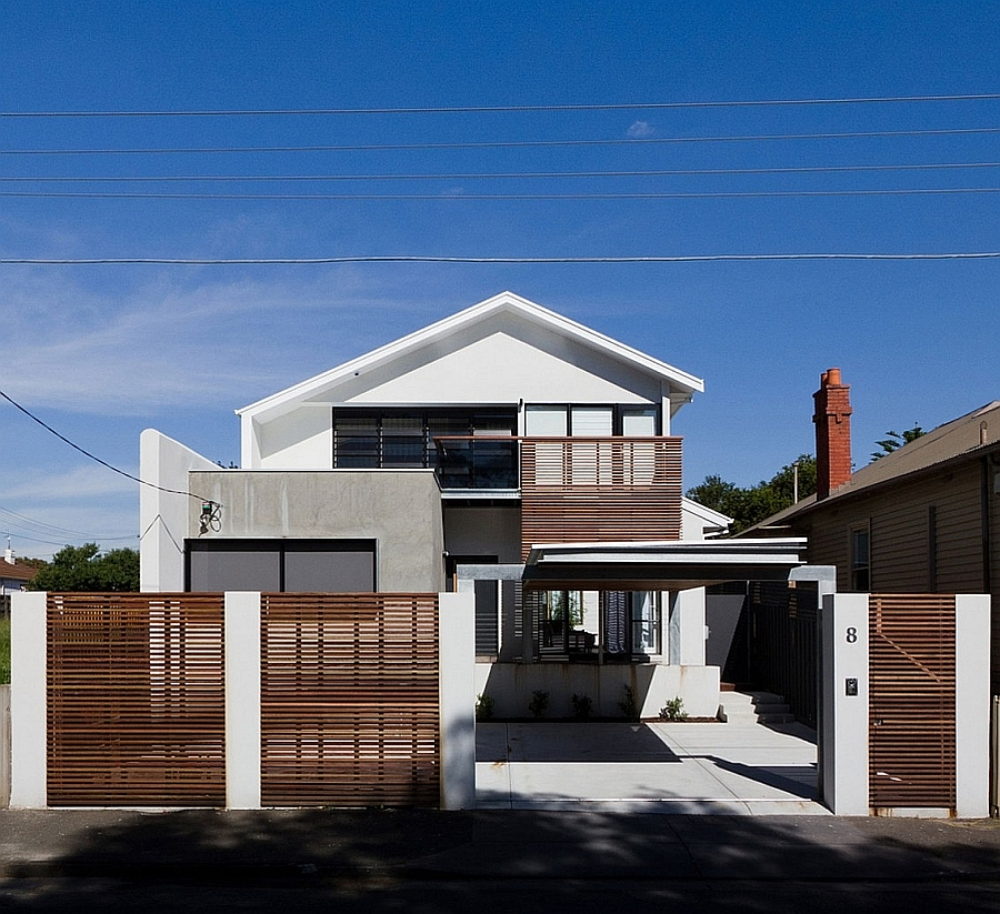 Street Facade of the Open House in Richmond, Australia