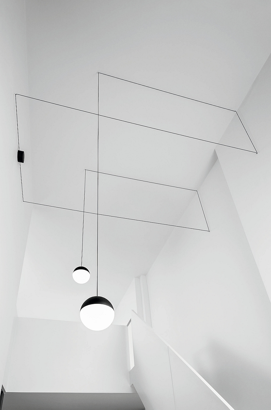 String lights are perfect additions for rooms with a high celing