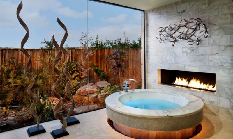 View In Gallery Stunning Bathroom Showcases The Perfect Way To Use A  Jacuzzi Indoors!