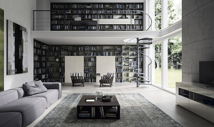 Stunning wall unit for those who love to showcase their book collection
