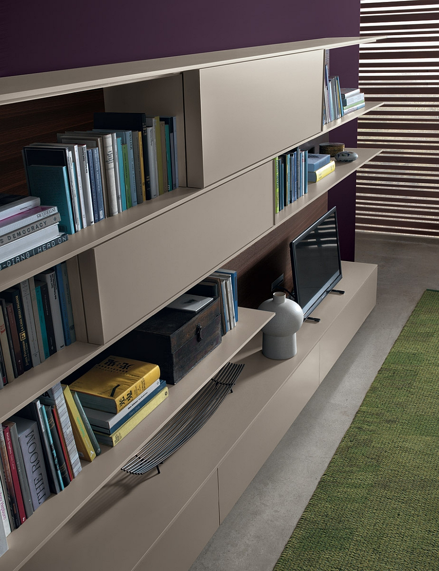 Stylish living room wall units from Jesse
