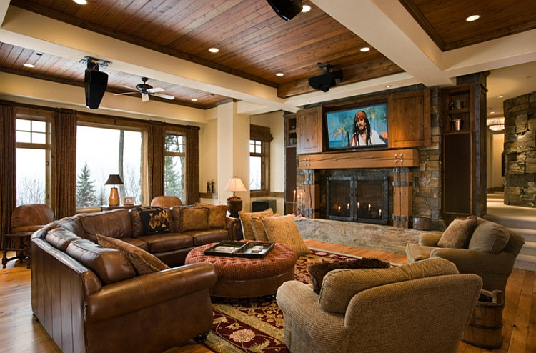 How About Putting The TV Above The Fireplace